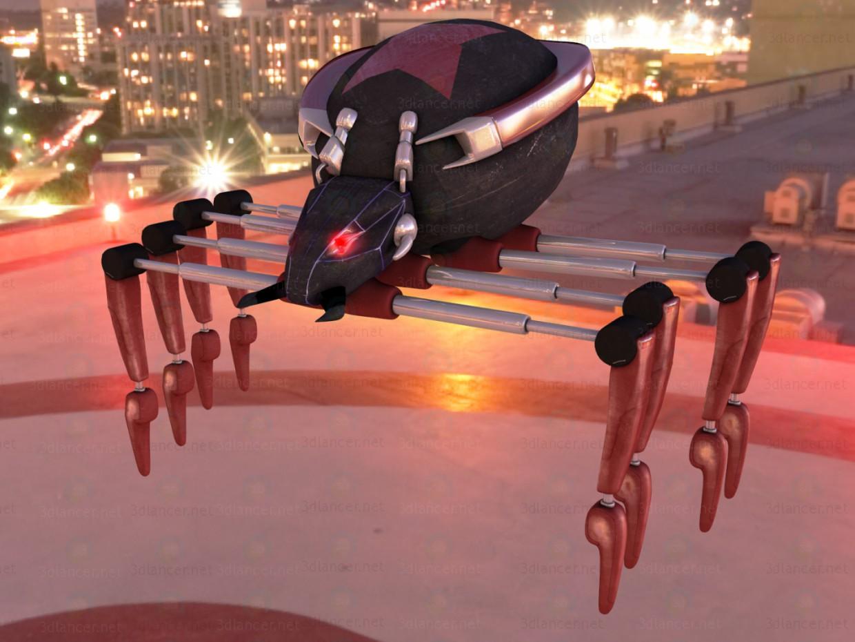 3d модель павук Робот – превью
