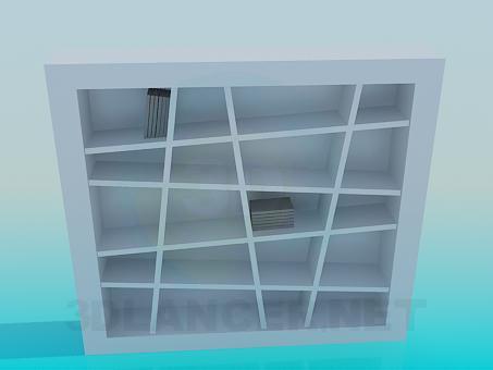 modelo 3D Librería - escuchar