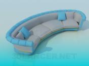 Sofá semicircular