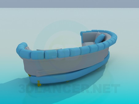 3d model Semi-circular sofa - preview
