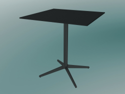 Table MISTER X (9510-01 (70x70cm), H 73cm, noir, noir)