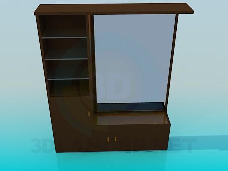3d моделювання Дзеркало з тумбою і поличками модель завантажити безкоштовно