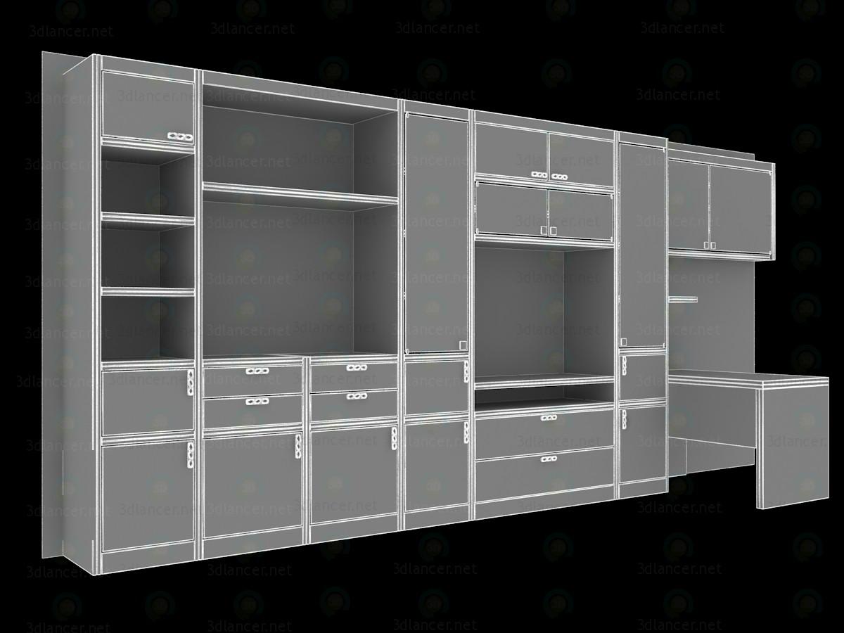 3d модель Стенка для гостиной 5500х490х2520(h) – превью