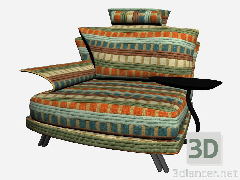 3d model Super roy Chair with stand and headrest - preview