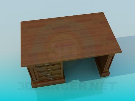 3d model Desk - preview