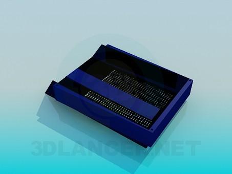 modelo 3D Contenedor para documentos - escuchar
