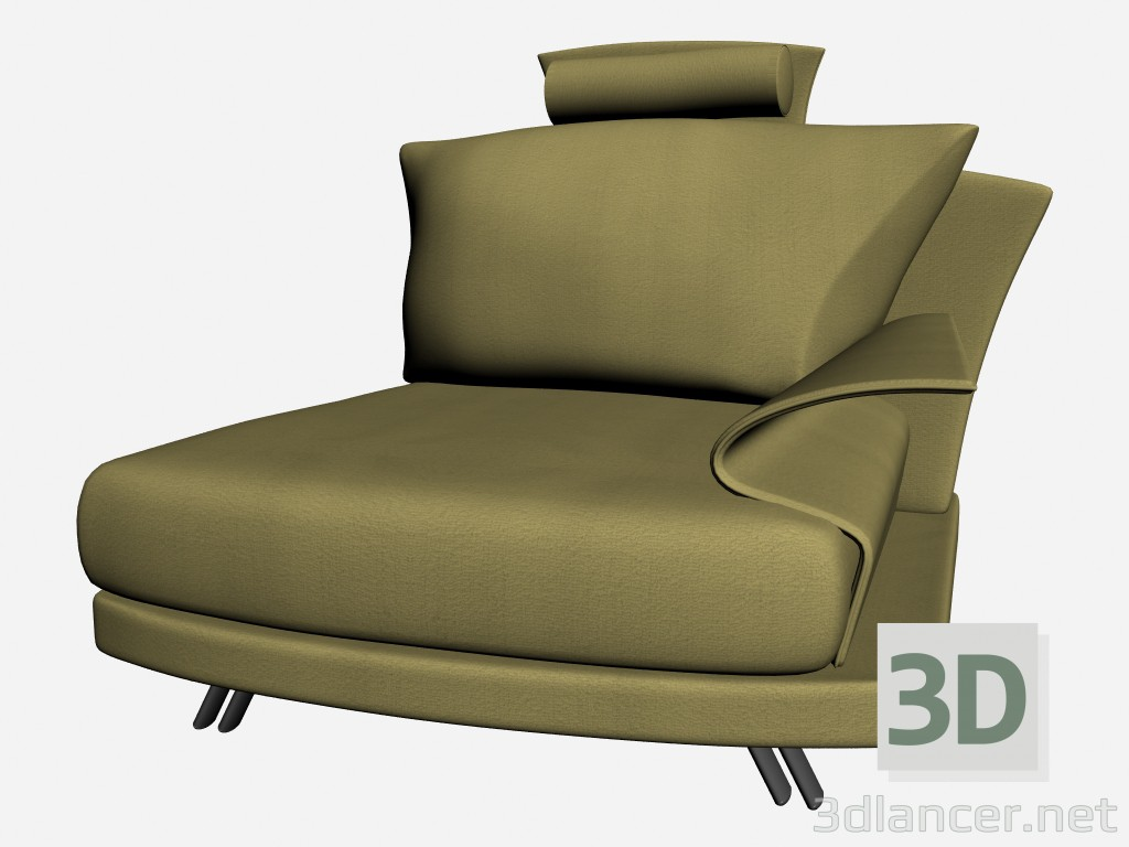 3d model Super Chair roy with headrest 2 - preview