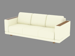 Leather sofa for three persons