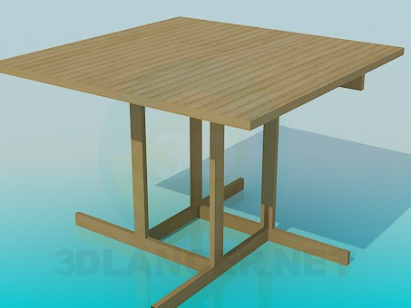 3d model Wooden dining table - preview