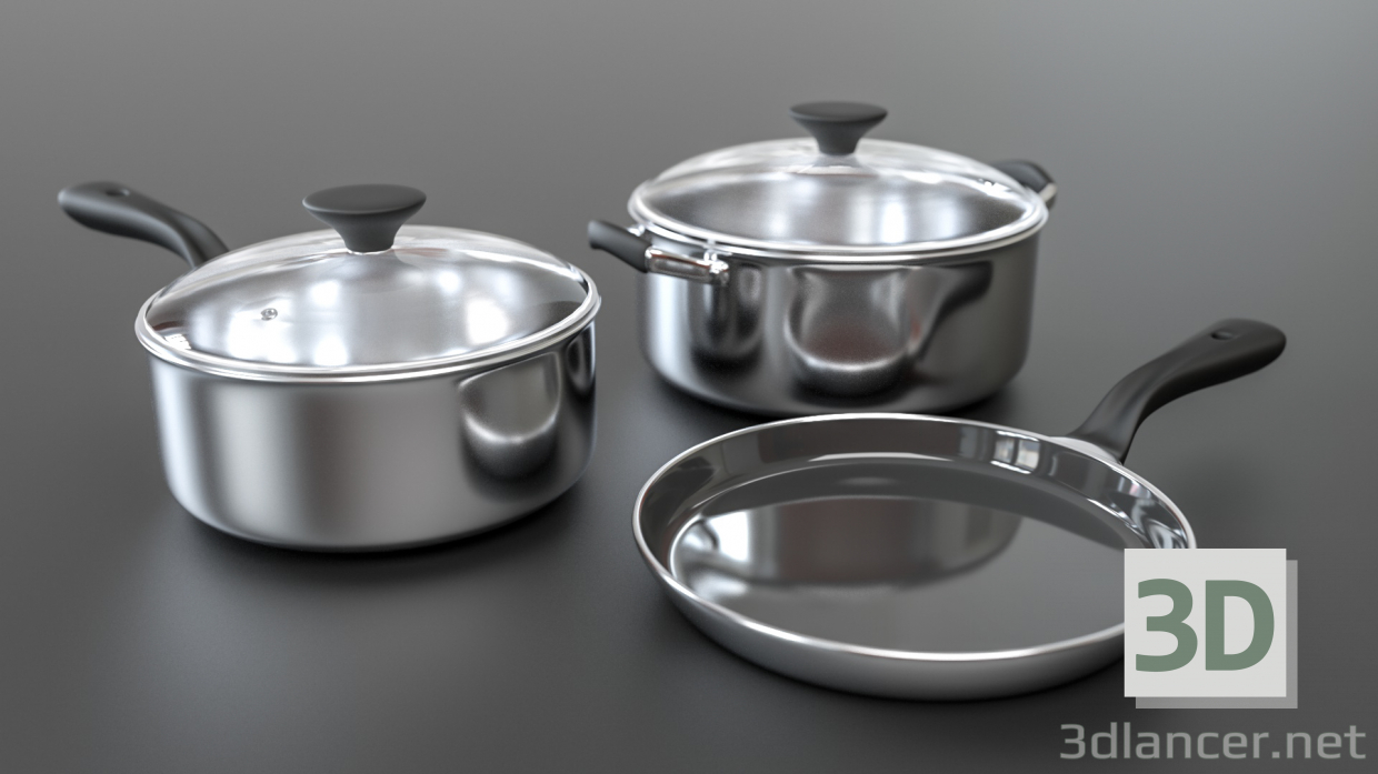 3d model Cooking utensils - preview