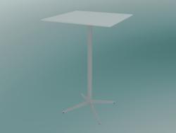 Tavolo MISTER X (9510-71 (70x70cm), H 108cm, bianco, bianco)