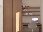 Built-in wall unit for small bedrooms