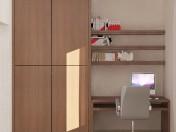 Вбудована стінка для невеликої спальні