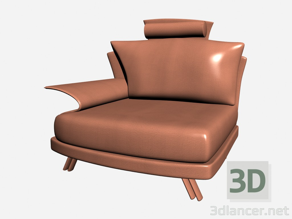3d model Super roy Chair with headrest - preview