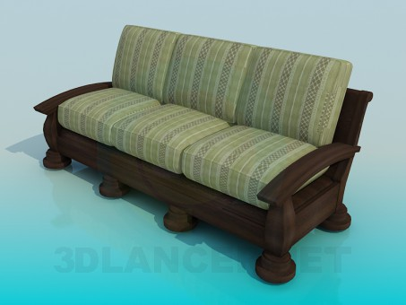 3d modeling Sofa High Poly model free download