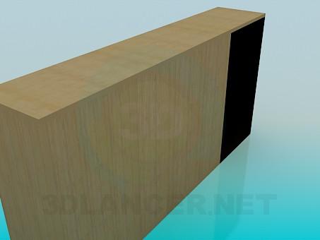 modelo 3D Armario con estantes abiertos - escuchar