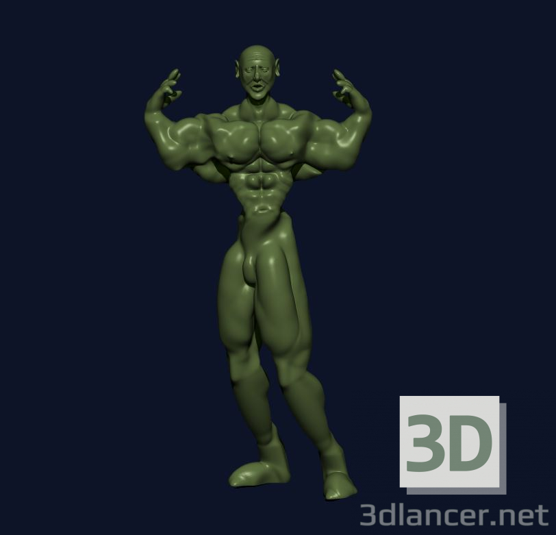 3d model Body-builder - preview