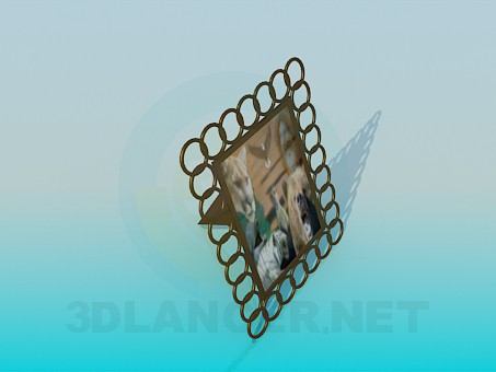 3d model Frame for the photo - preview
