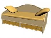 Кровать детская с ящиками 90х200