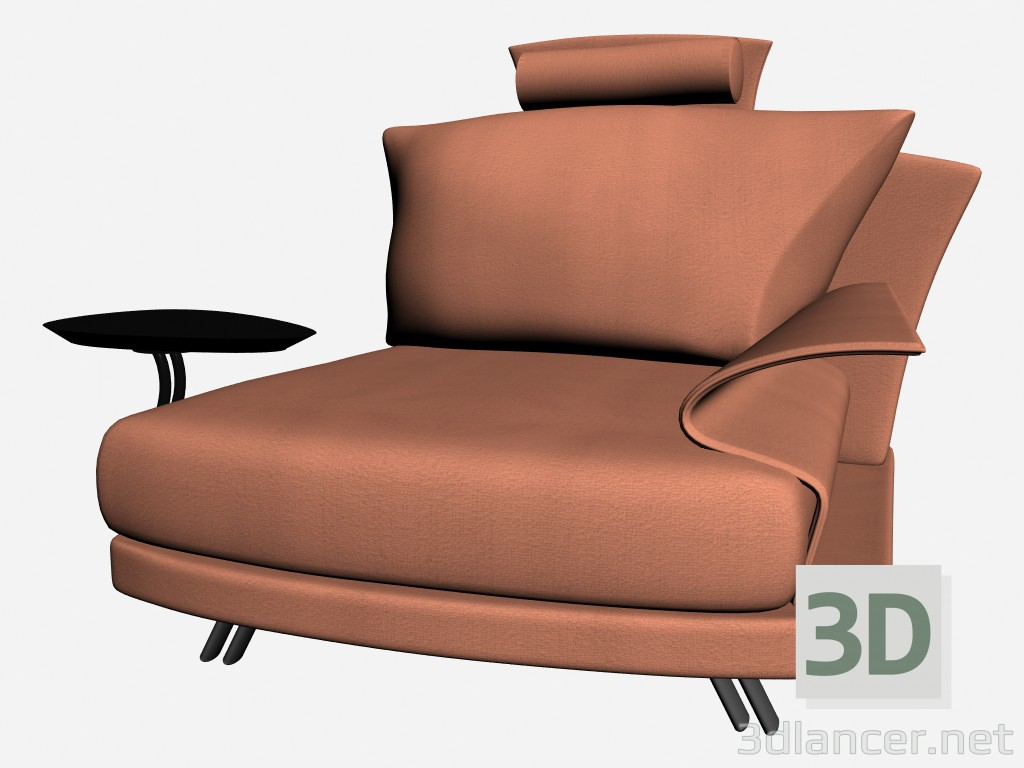 3d model Super roy Chair with stand and headrest 2 - preview