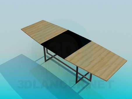 3d model Folding table - preview