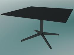 Table MISTER X (9511-51 (80x80cm), H 50cm, black, black)