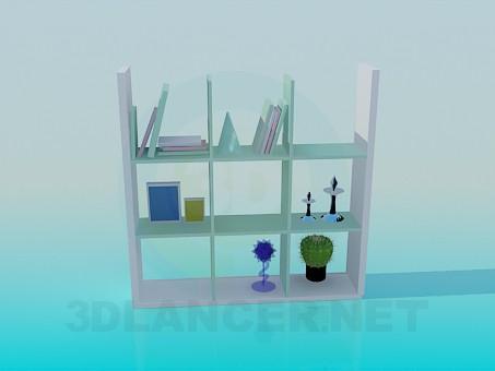 descarga gratuita de 3D modelado modelo Estante para libros
