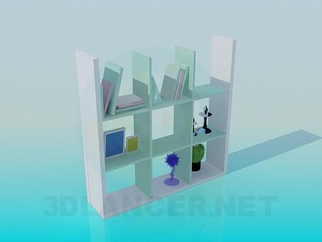 modelo 3D Estante para libros - escuchar