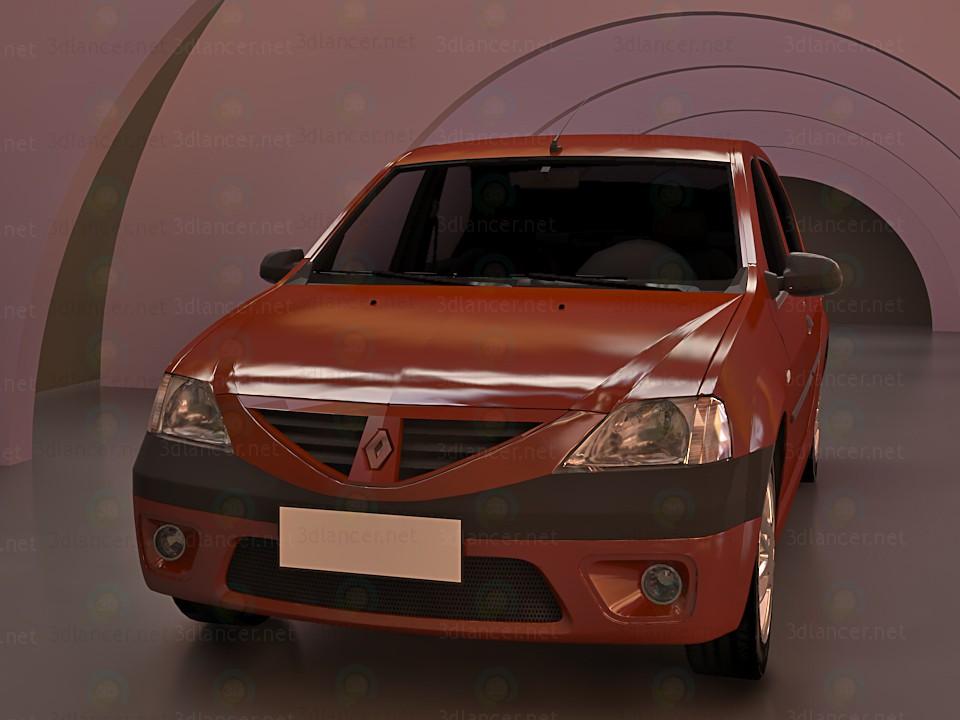3d моделювання Дачія логан Renault 3D модель модель завантажити безкоштовно