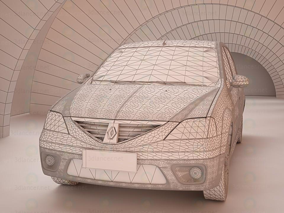 modelo 3D Modelo Renault Logan Dacia 3D - escuchar