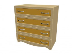 Chest of drawers (4 boxes)