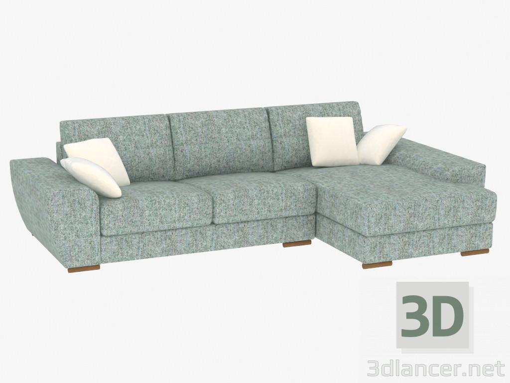 3d model sofa bed corner modular manufacturer pushe id 19306 for Sofa bed 3d model