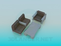 Sofa with table
