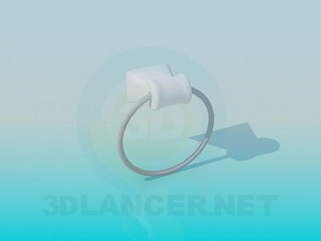 3d модель Круглий полотенцедержатель – превью