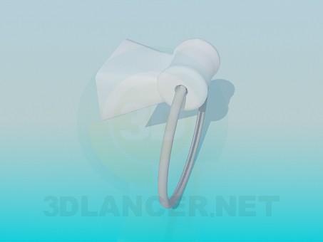 3d модель Круглый полотенцедержатель – превью