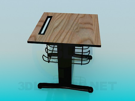 3d model Single desk - preview