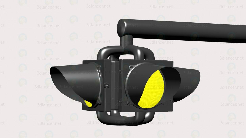 3d модель Светофор-мигалка – превью