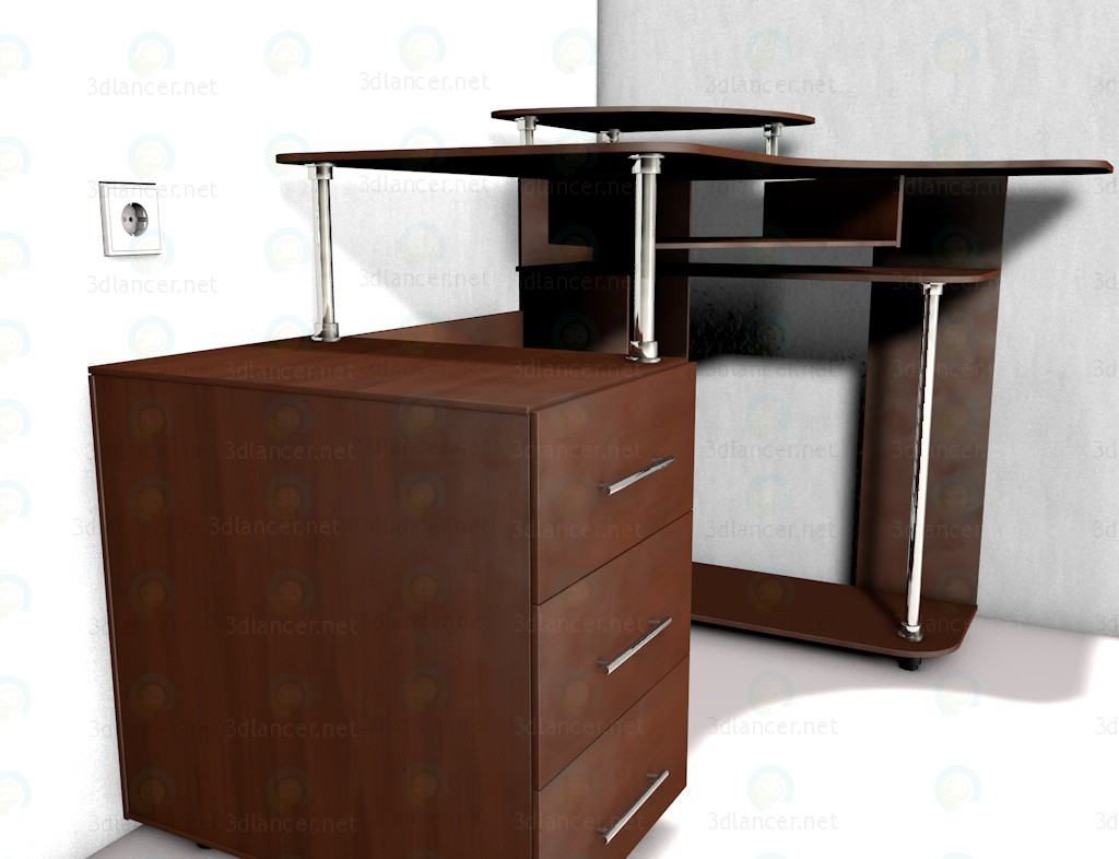 3d model Computer tables corner Scuba 1 - preview
