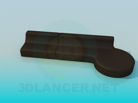 modelo 3D Sofá de estricto - escuchar