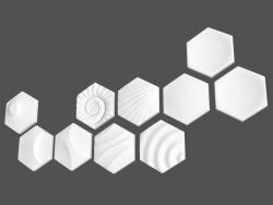 Pannelli 3D (articoli) Heksa