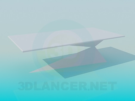 descarga gratuita de 3D modelado modelo La mesa de café en la pierna inusual