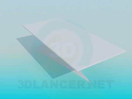 3d модель Журнальний столик на незвичайній ніжці – превью