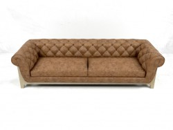 Диван Cocoon Chesterfield 4 Seater Bleu Nature