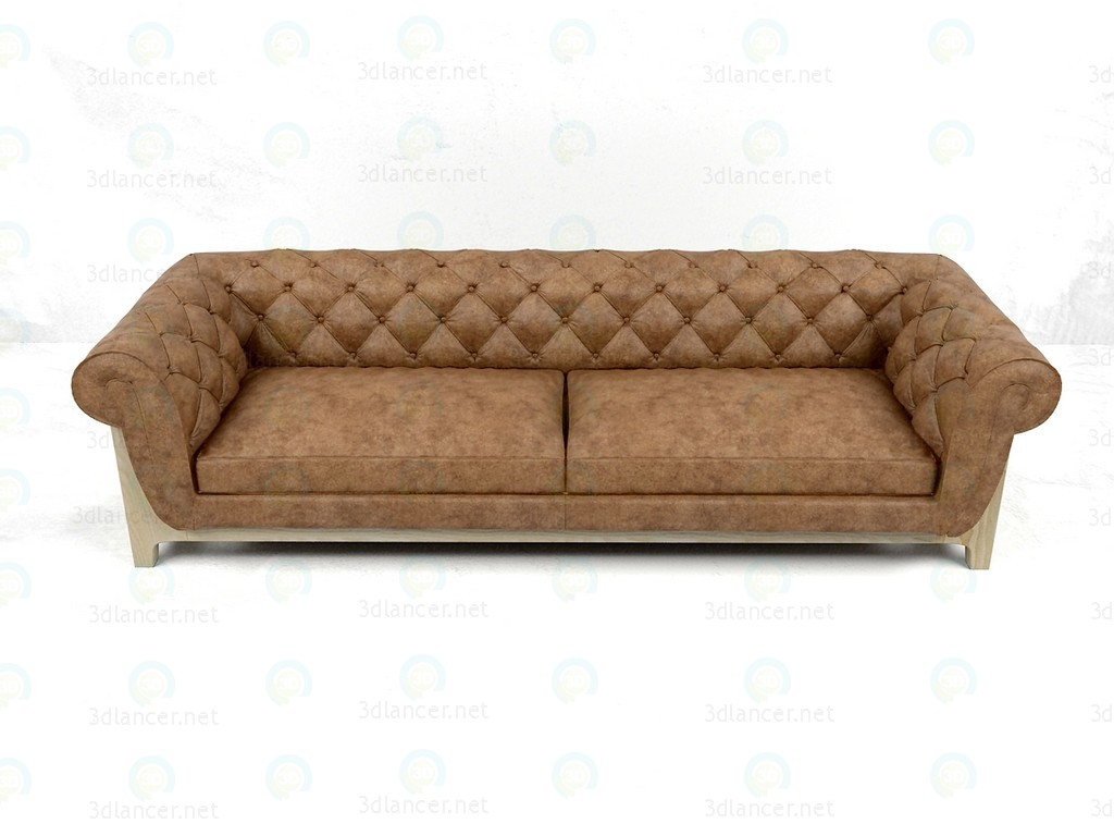 Диван Cocoon Chesterfield 4 Seater Bleu Nature 3d модель купити - рендер