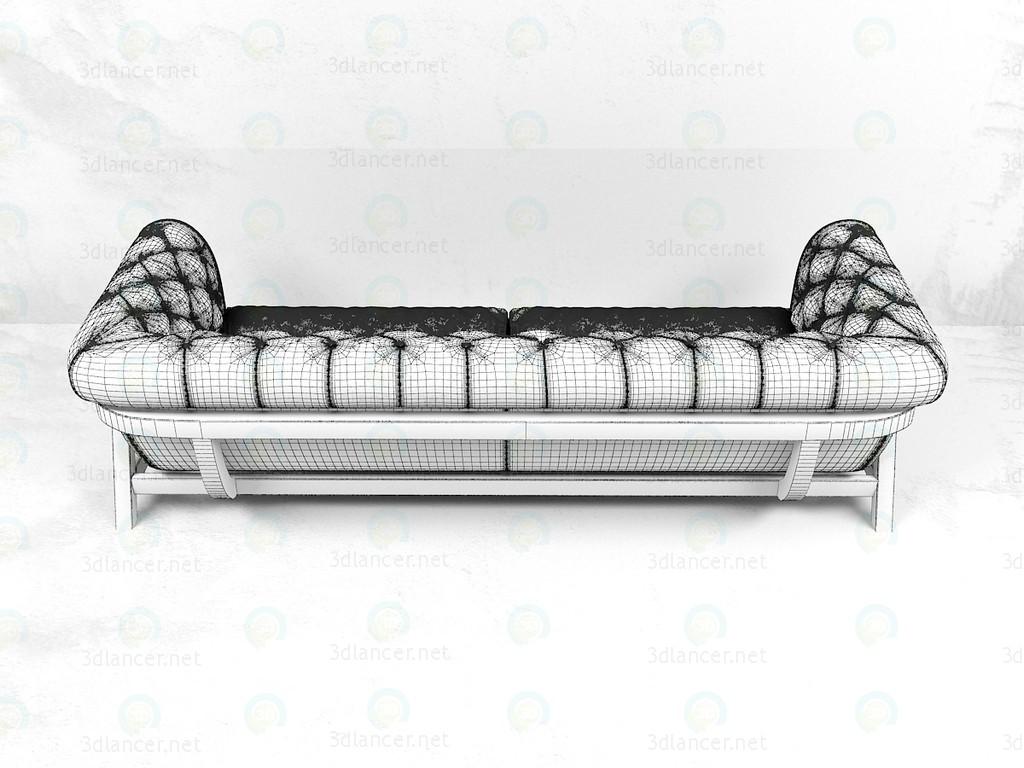 3d Диван Cocoon Chesterfield 4 Seater Bleu Nature модель купити - зображення