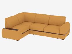 Sofá cama de esquina para tres personas