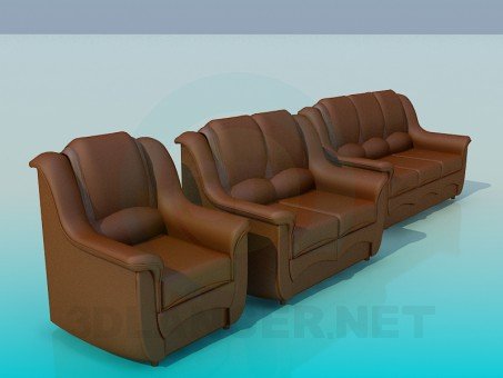 3d model A set of sofas - preview