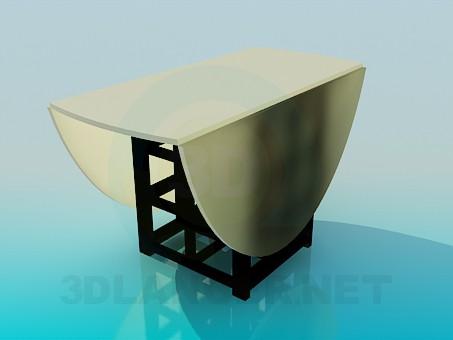 modelo 3D Mesa abatible - escuchar