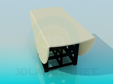 3d model Drop-leaf table - preview