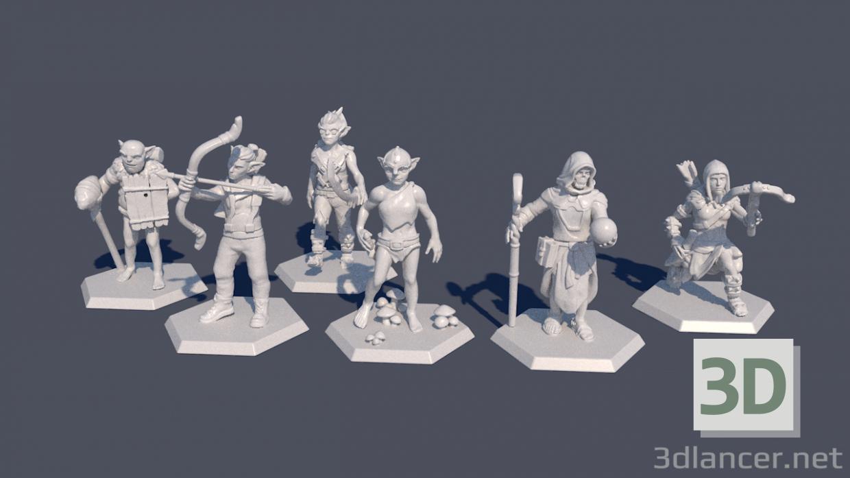 3d Figures model buy - render